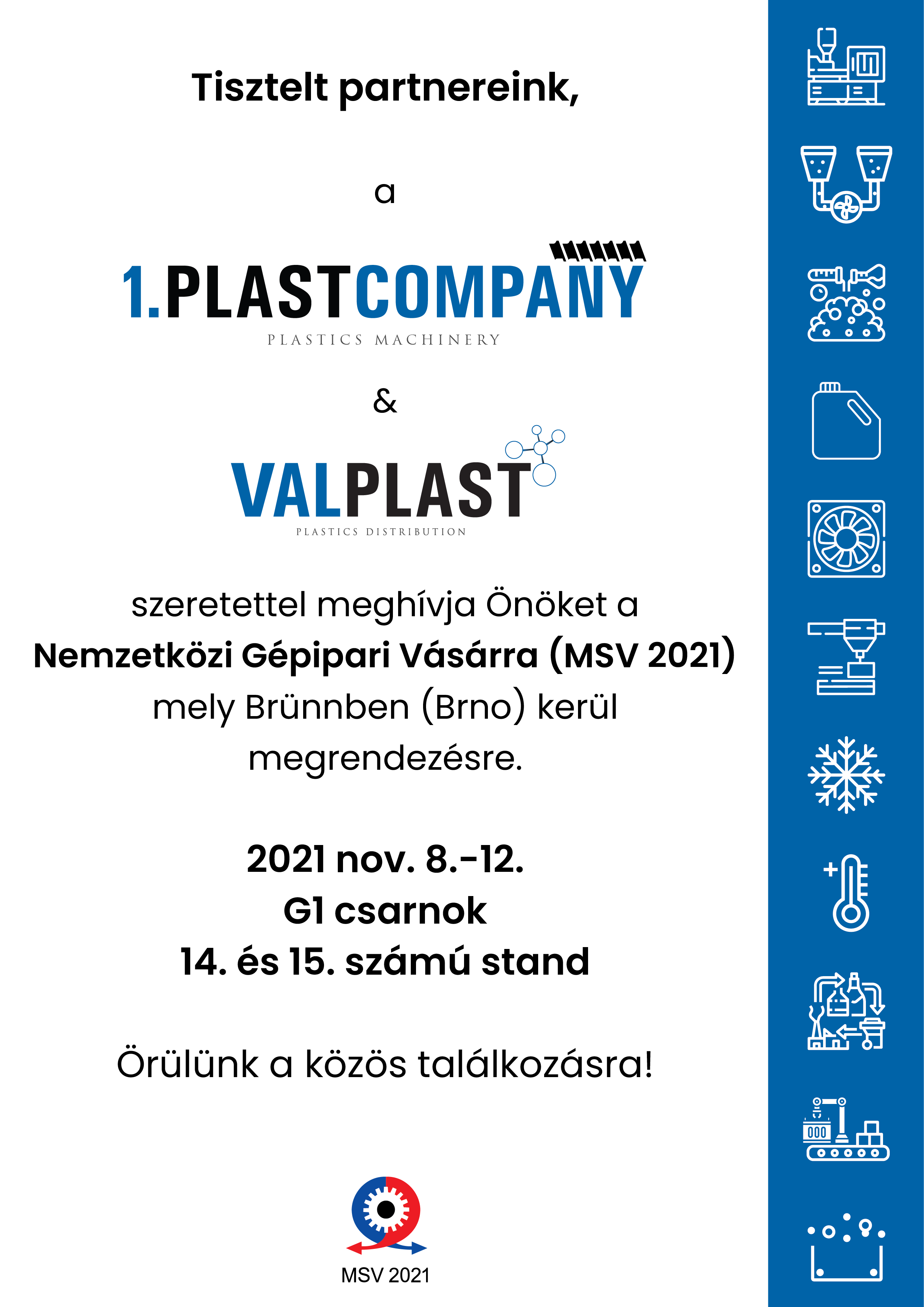 Nemzetközi Gépipari Vásárra (MSV 2021)