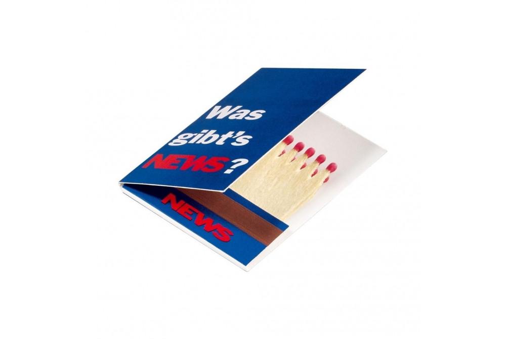 Zápalky v tvare knihy