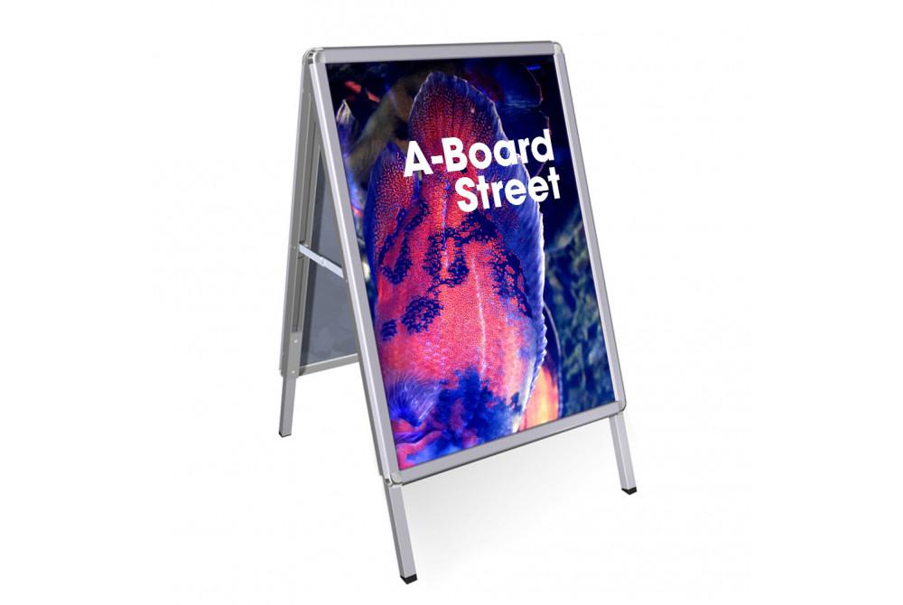 A-board Street strieborný