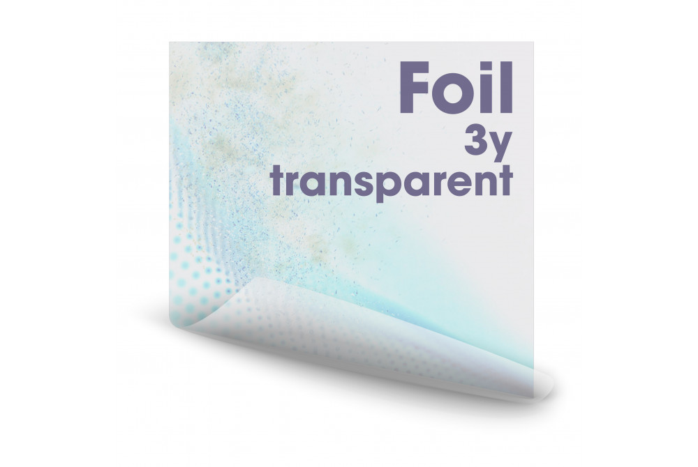 Fólia transparentná, 3-ročná
