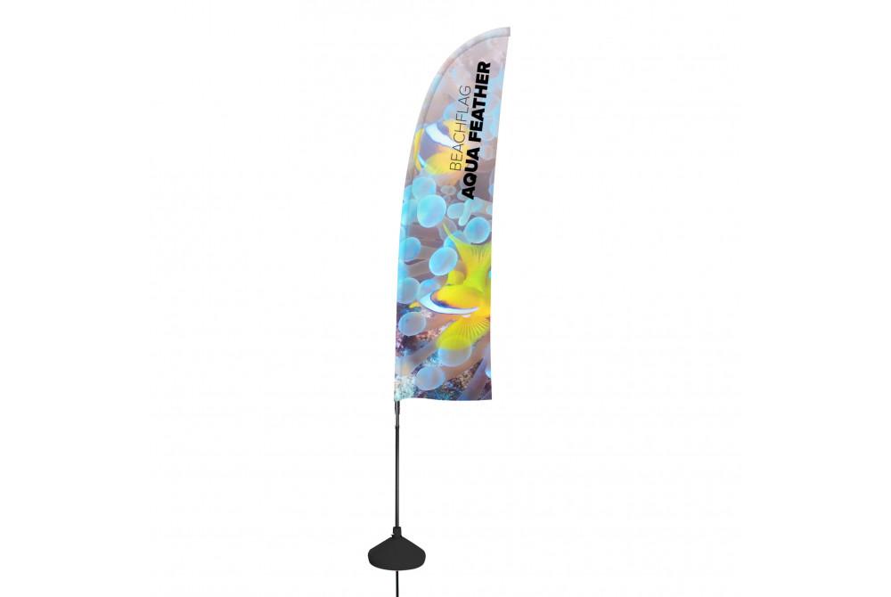 Vlajka Beachflag Aqua