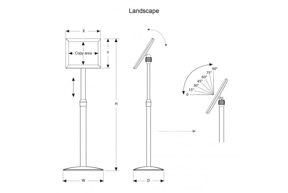 Informačný teleskopický stojan