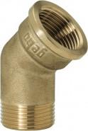"GEBO Gold - Ms Koleno 45° M/F 1"", G121-06BR"