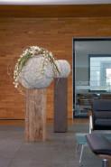 Beach planter shell white 60x60 cm