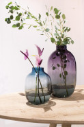 Blossom Aurora vase ocean 19x26 cm (Vaza sklo)