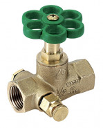 """Priamy ventil s odvodnením typ 3300 F/F 3/4"""" 33000006"""