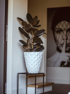 Capi Lux Heraldry Vase taper round II white 51x52 cm
