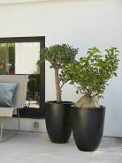 Capi lux vase elegant low II black 36x47 cm