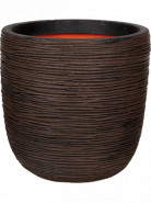 Capi Tutch Rib NL Planter ball dark brown 54x52 cm