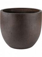 Grigio New egg pot rusty iron concrete 36x31 cm