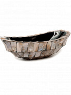 Shell Boat Mother of pearl brown 46x20x13 cm