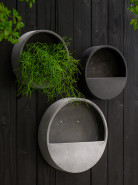 Natural wally (hanging) S round grey 40x9 cm