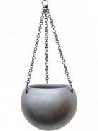 Gradient hanging globe matt grey 24x19 cm