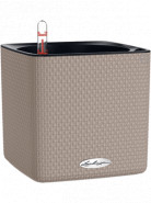 Lechuza Cube Color 14 All-in-One set sand brown 14x14x14cm