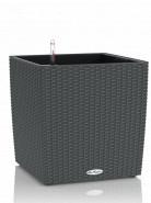 Kvetináč Lechuza Trend Cube Cottage granit antracit komplet set 50x50x54 cm