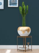 Luxe Lite Glossy Globe white -  gold 45x32 cm