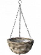 Rattan hanging basket Antique grey 30x17 cm