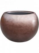 Metallic Silver leaf globe matt coffee (with liner) 50x37 cm
