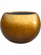Metallic Silver leaf Globe matt honey (s vnutrom) 60x43 cm
