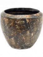 Oceana Cracked Pearl Couple Black Brown 17x15 cm