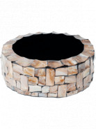 Oceana pearl Table Planter Cylinder brown 36x13 cm
