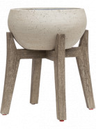 Cement With feet Cibey S beige washed 40x42 cm