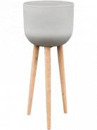 Refined Retro with feet Landon clouded grey 40x97 cm