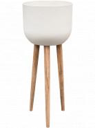 Refined Retro with feet Landon natural white 40x97 cm