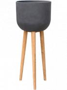 Refined Retro with feet Landon dark grey 40x97 cm