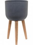 Refined Retro with feet Logan dark grey 36x63 cm