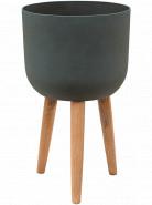 Refined Retro with feet Logan pine green 36x63 cm