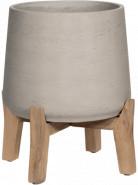 Rough with feet low Patt XL grey washed 28x29 cm