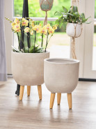 Indoor Pottery Pot Ruth sand (set 2 ks) 32x41 cm a 37x27 cm