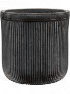 Vertical Rib Cylinder Anthracite 30x31 cm