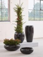 Kvetináč Moda Black Shiny Couple 43x43 cm