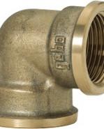 "GEBO Gold - Ms Koleno 90° F/F 1"", G90-06BR"