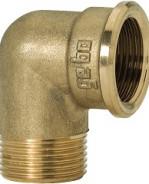 "GEBO Gold - Ms Koleno 90° M/F 1.1/2"", G92-08BR"