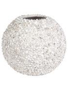 Beach table top planter shell white 30x30cm