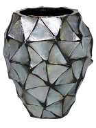Shell Coast Orchid Planter Mother of pearl silver-blue 17x24 cm