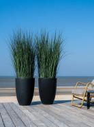 Kvetináč Fiberstone Ben XL čierny/antracitový 52x72 cm