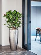 Kvetináč Opus Raw Partner silver strieborný ( s vnutrom) 50x105 cm