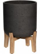 Kvetináč Rough na nožičkách Charlie M čierny (antracitový) 21x26 cm