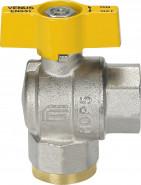 "VENUS 1071G204 Guľový rohový ventil na plyn F/F 1/2"", DN 15, T-páka"