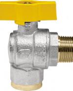 "VENUS 1072G264 Guľový rohový ventil na plyn M/F 1/2"", DN 15, T-páka"