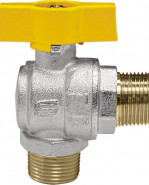 "VENUS 1073G266 Guľový rohový ventil na plyn M/M 1"", DN 25, T-páka"