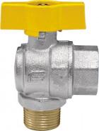 "VENUS 1074G266 Guľový rohový ventil na plyn F/M 1"", DN 25, T-páka"