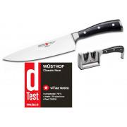 Wüsthof CLASSIC IKON nôž kuchársky 20 cm + brúska ZADARMO 4596/20+4348