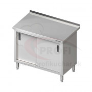 Pracovný stôl krytovaný - posuvné dvere 1300x700x850mm