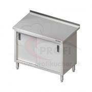 Pracovný stôl krytovaný STALGAST® 1500x600mm, posuvné dvere