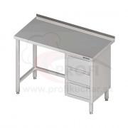 Pracovný stôl so zásuvkami - bez police 900x600x850mm